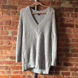 Gray sweater dress/tunic